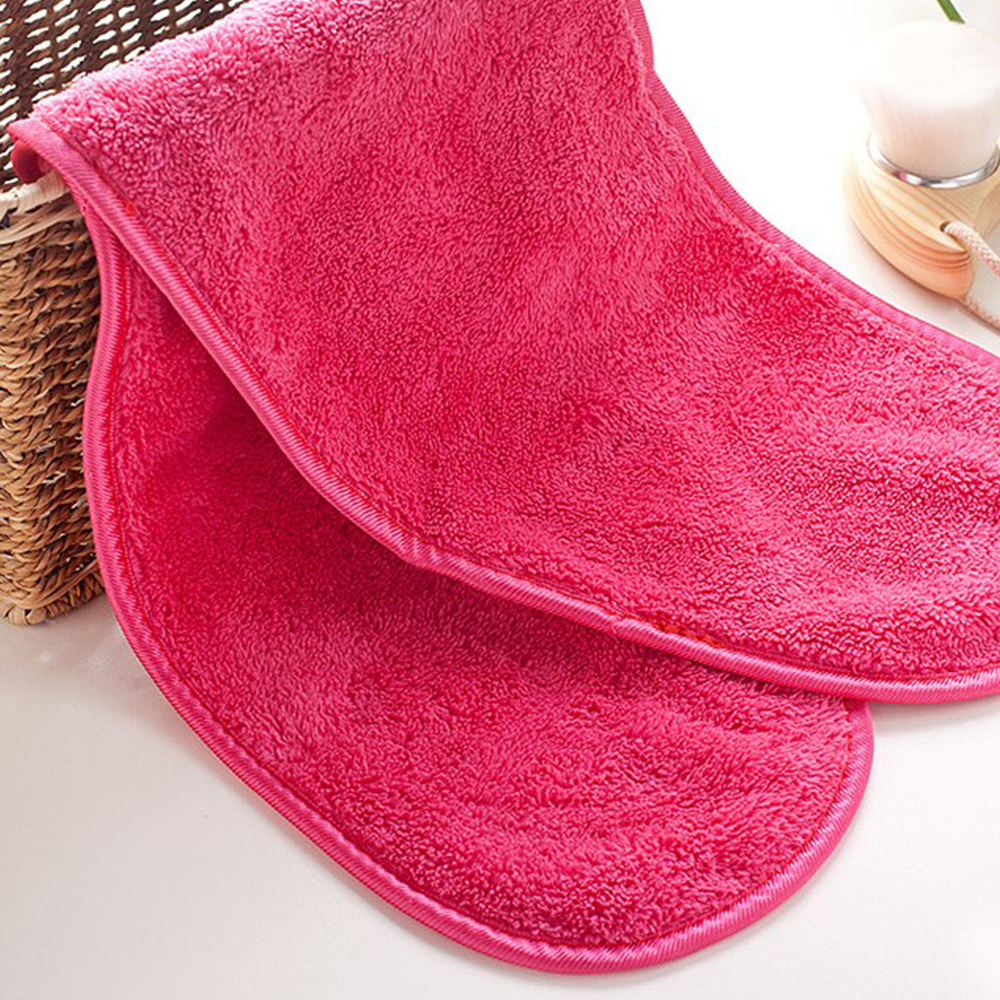 1 Pc Red Makeup Remover Cloth Clean Towel Reusable Facial Cleansing Towel Remove Makeup Instantly Water Satisfaction