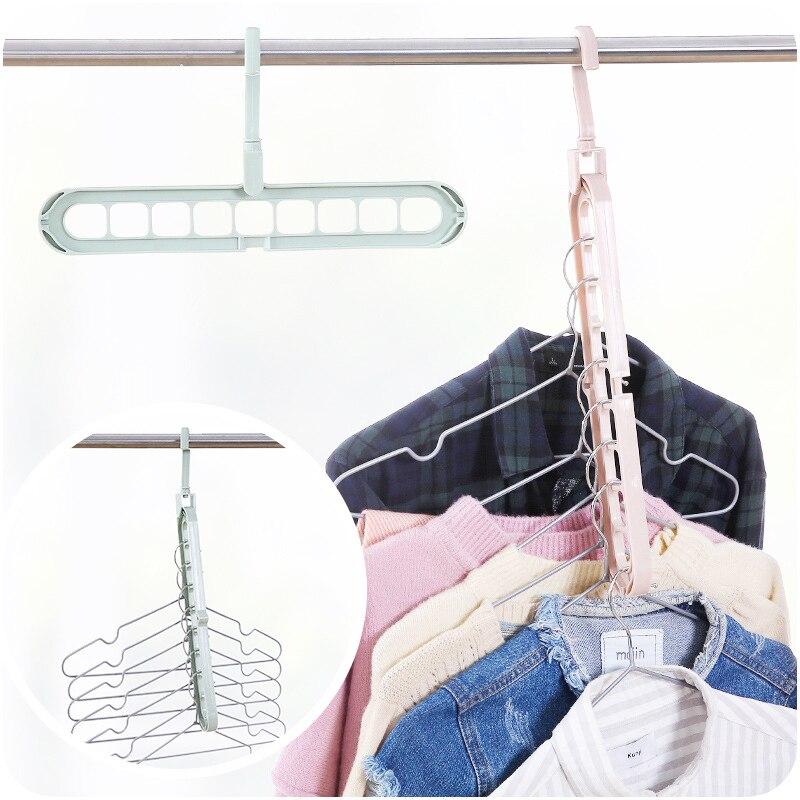 Image 4 - Sale 1PC Multifunctional magic interior wardrobe hanger  Clothes Storage Organization-in Hanging Organizers from Home & Garden