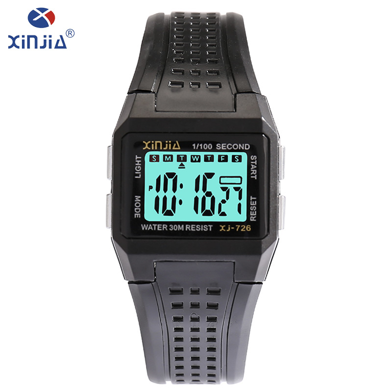 XINJIA Brand LED Electronic Clock For Men Casual Waterproof Shockproof Watch Luminous Fashion Luxury Digital Wristwatch XJ-726 купить недорого в Москве