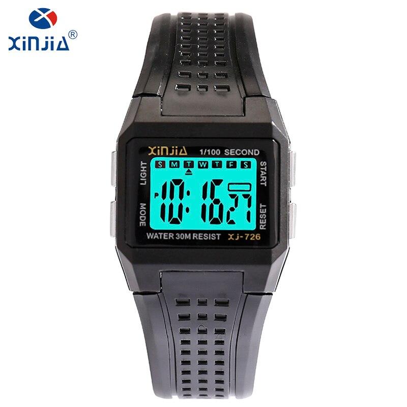 XINJIA Brand LED Electronic Clock For Men Casual Waterproof Shockproof Watch Luminous Fashion Luxury Digital Wristwatch XJ-726 все цены