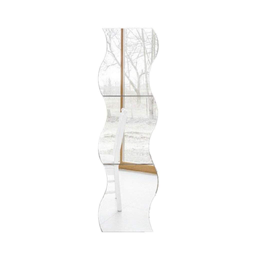 6 шт. квадратная настенная Зеркальная Наклейка с рисунком волн Серебряная роспись стиль украшение для детской комнаты|Декоративные зеркала|Дом и сад - AliExpress