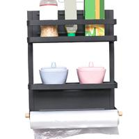 Magnetic Refrigerator Rack Magnets Kitchen Storage Shelf Paper Holder Organizer Wall mounted Hanger