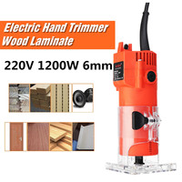 220V 1200W 30000RPM 6mm 1/4 Electric Hand Trimmer Wood Laminator Router For Joiners Lift Knob Cutting Exact for Wooden