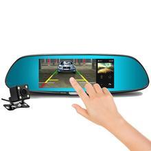 7 дюймов HD 1080 P заднего вида резервная камера Сенсорный экран ночного видения широкий угол 6 Lane запасная камера рекордер