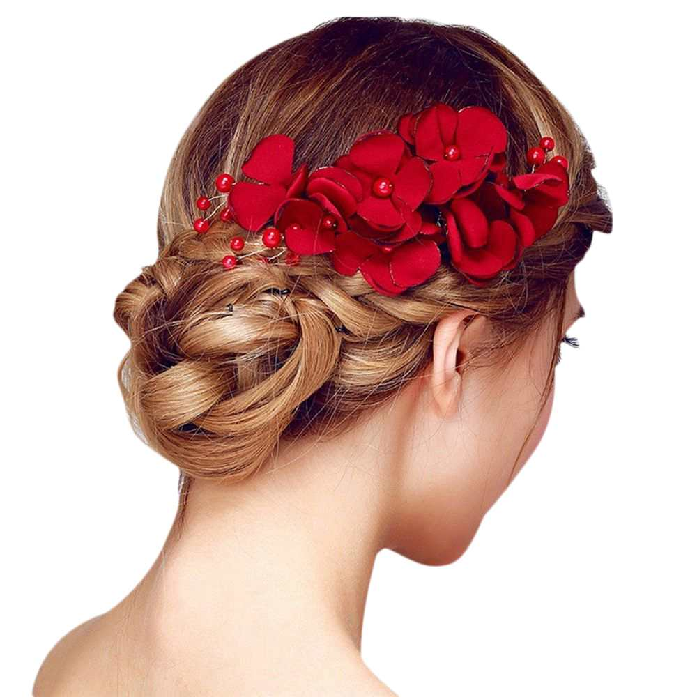 Wedding Party Comb Hair Accessories Headpiece Artificial Bridal Hairpin