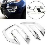Chrome Car Auto Styling Front Fog Light Lamp Bezel Cover Trim Protector Decoration For Ford Explorer Sport 2016 2017