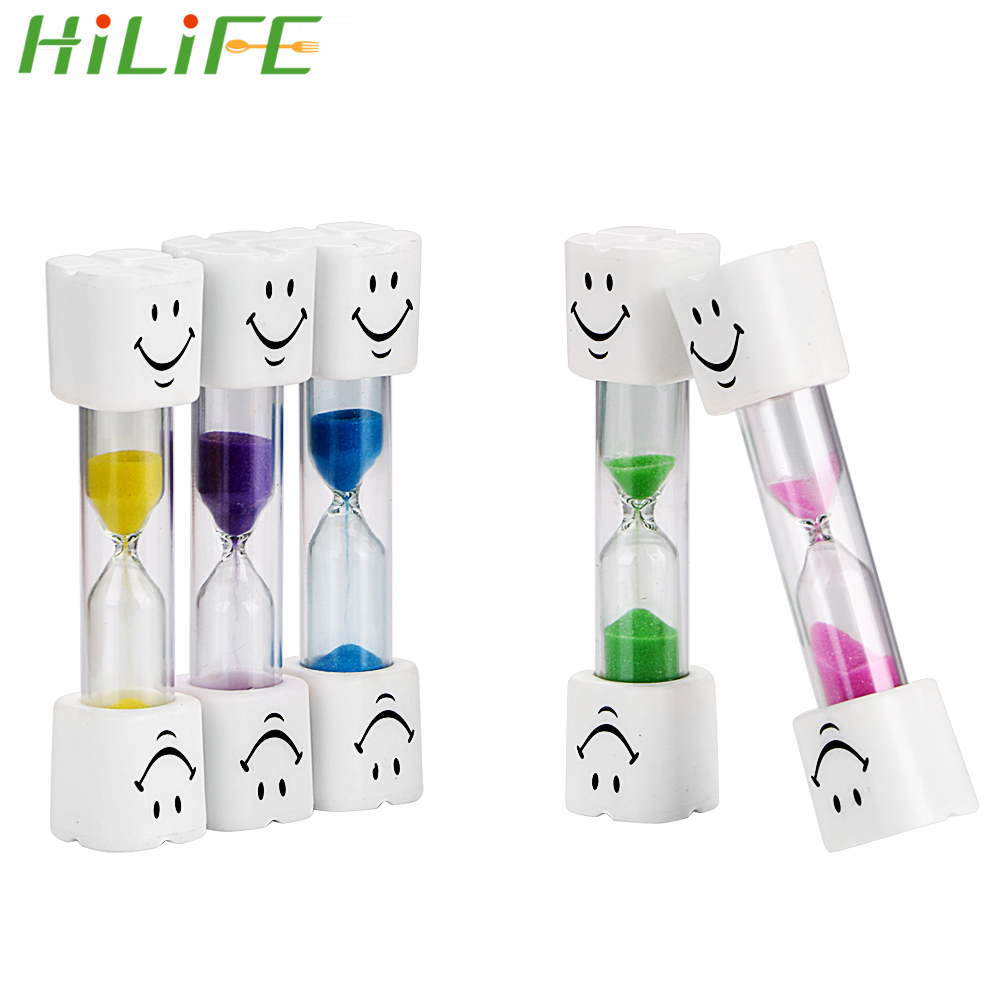 HILIFE 3 Minutes Home Decor Toothbrush Timer For Brushing Kids Teeth Smiley Sand Timer Hourglasses image