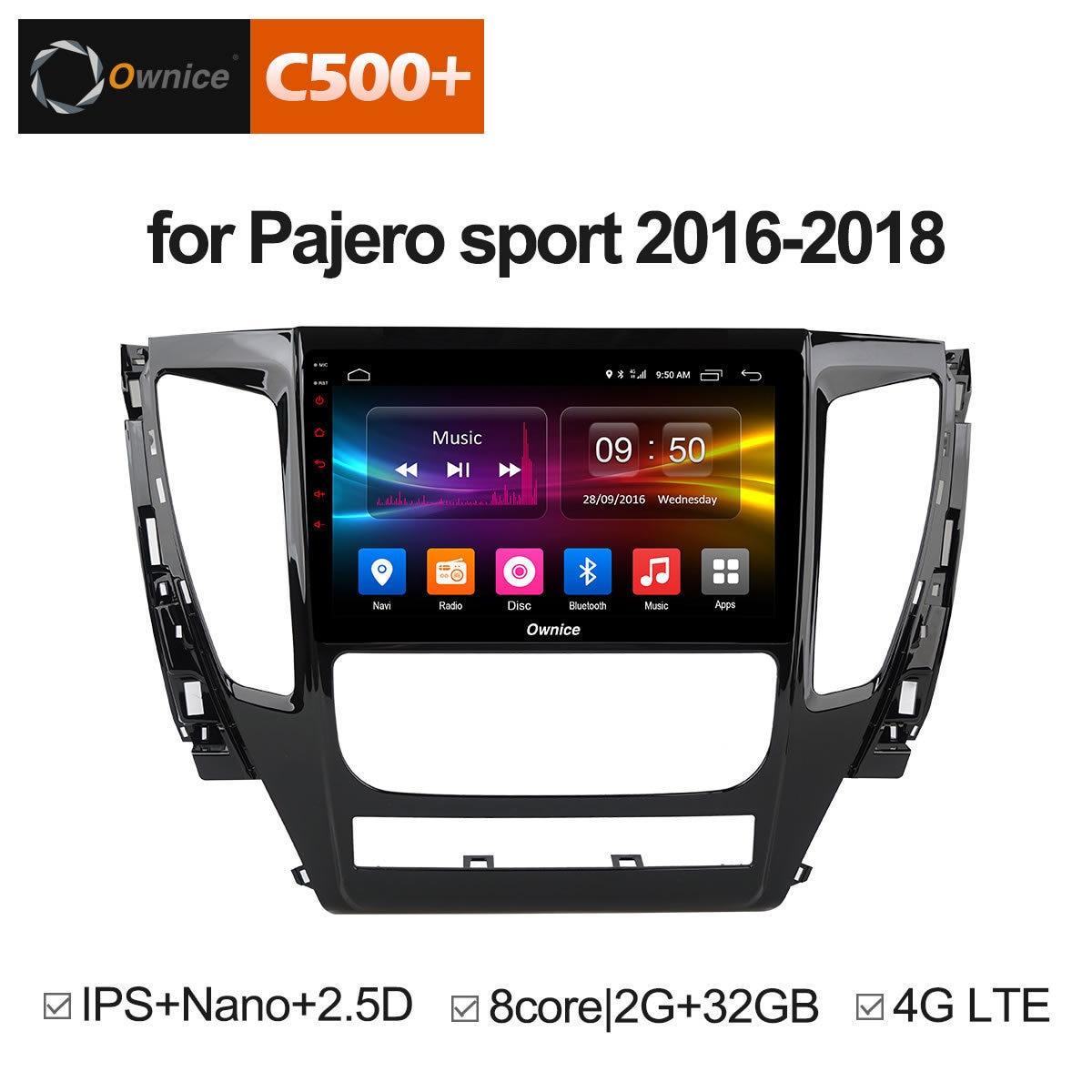 Pour Mitsubishi Pajero Sport 2016 2017 2018 Android 8.1 stéréo véhicule DAB véhicule multimédia 2.5D DAB Auto Radio 2 Din GPS IPS