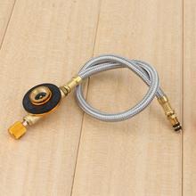 Плетеный шланг открытый газовая плита горелки адаптер клапан открытый кемпинг печь для приготовления пищи разъем газовый бак оборудование тип
