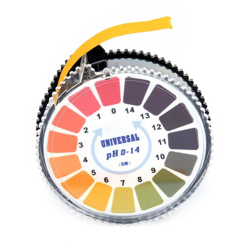 1 Rolle Maßband Typ Ph Test Papier 5 Mt 0-14 Ph Alkalische Säure Anzeige Papier Wasser Urin Speichel Lackmus-test