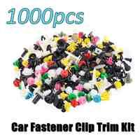 500/1000PCS Mixed Auto Fastener Vehicle Car Bumper Clips Retainer Fastener Rivet Door Panel Liner Universal Fit for All Car