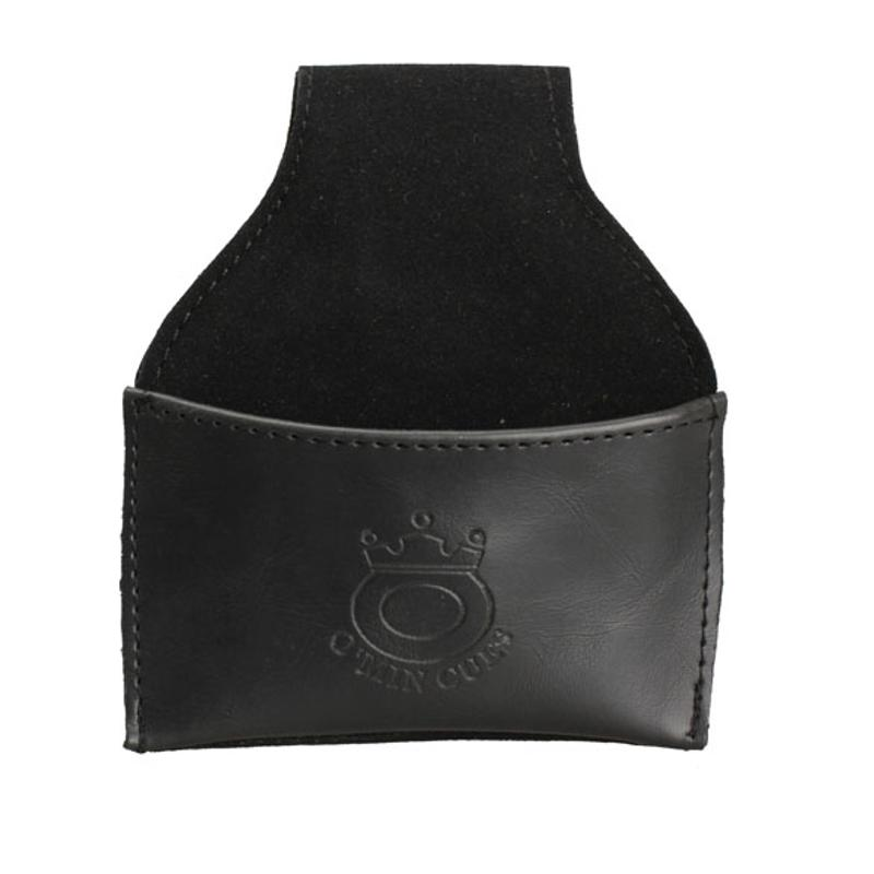 1PCS PU Billiards Leather Chalk Holder Black Faux Pouch With Clip Pool Table Billiards Snooker Cue Billiards Accessories 9.5*5cm