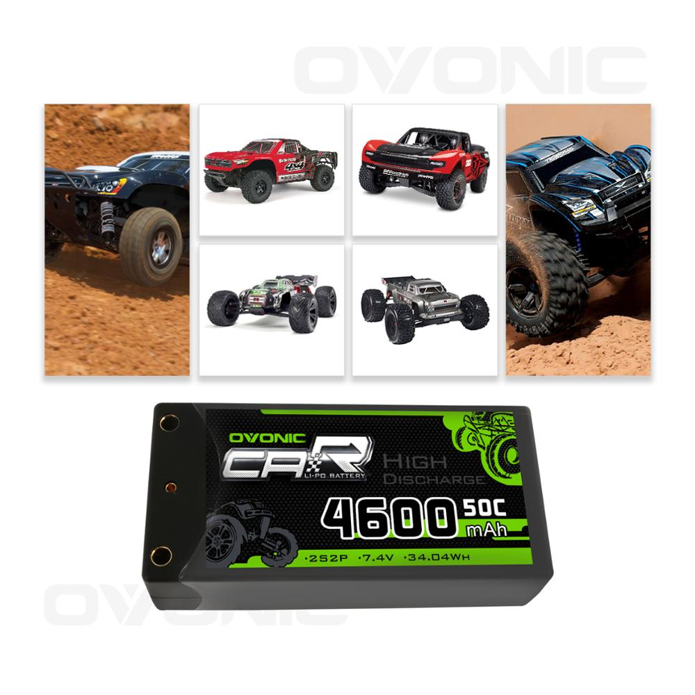 Image 4 - Ovonic 2S Shorty Lipo 7.4V 50C 2300mAh Hardcase Lipo Battery with 4mm Bullet Deans Ultra Plug Connector for RC 1/10 Scale Vehicl-in Parts & Accessories from Toys & Hobbies