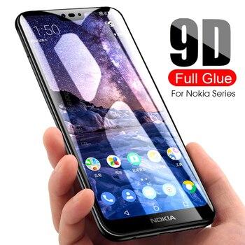 Перейти на Алиэкспресс и купить 9D Защитное стекло для Nokia 2 3 5 6 7 2017 закаленное стекло Защита экрана для Nokia 2,1 3,1 5,1 6,1 Plus 7,1 8,1 X5 X6 X7 2018