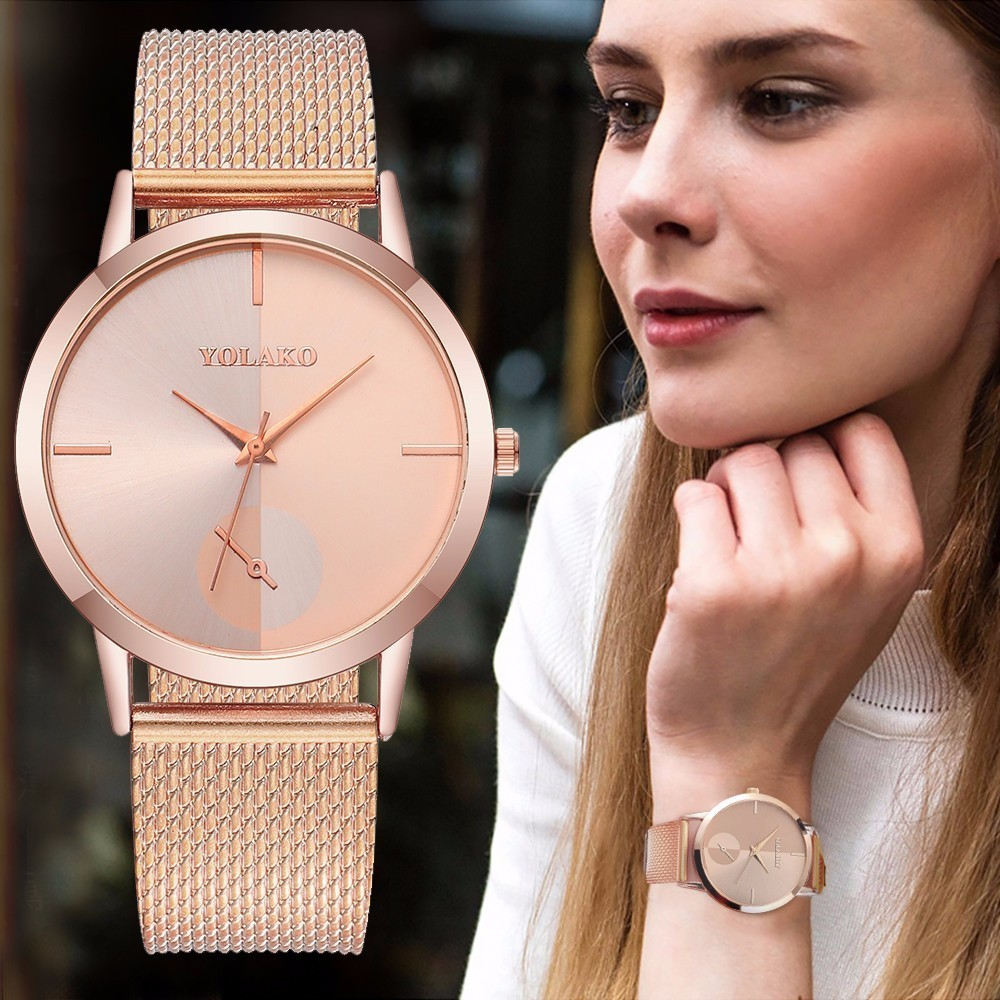 2019 Hot Fashion Women Quartz Watch Luxury Plastic Leather Analog Wrist Watches Female Clock YOLAKO Brand Relogio Feminino Наручные часы