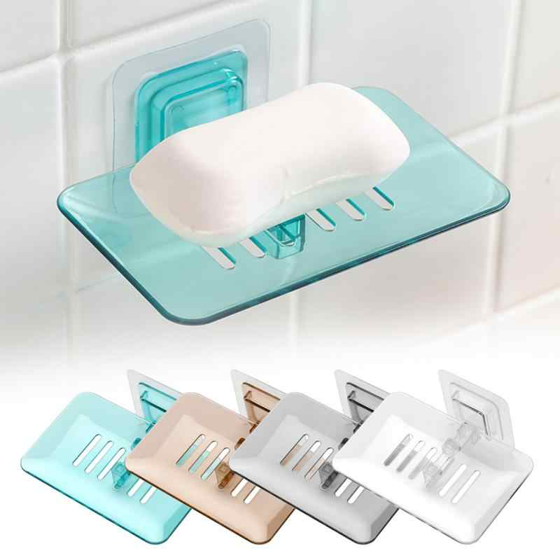Bathroom Shower Soap Box Dish Storage Plate Tray Holder Case Soap Holder Bathroom Tray Accessories Box Shelf Wall Dishes