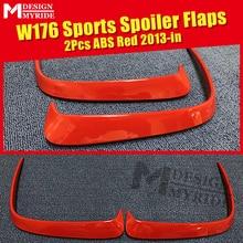 2 Pcs ABS Red Rear Bumper Canard Vent Rafts Splitter Fit For Mercedes Benz W176 A180 A200 A250 A45 Splitters 2013-in