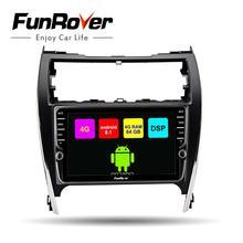 Funrover 2din автомобильный dvd мультимедийный плеер android 8,1 gps для Toyota Camry 2012-2014 США и Mid-East Vers автомобильный Радио Стерео навигация