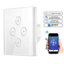 EU US Plug for Alexa Google Home Smart Ceiling Fan Switch Wifi APP Timer Speed Group Control Speed Regulation Home Wall Switch