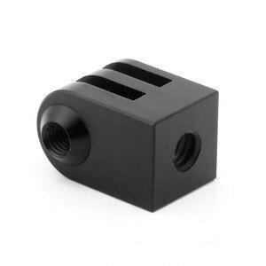Image 1 - Cnc алюминиевый сплав мини штатив крепление для наружной спортивной камеры Базовый адаптер для всех 1/4 дюйма Винт монопод аксессуар