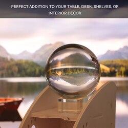 80mm bolas de fotografia cristal artesanato decoração bola de cristal artificial natural magia cura esfera globo