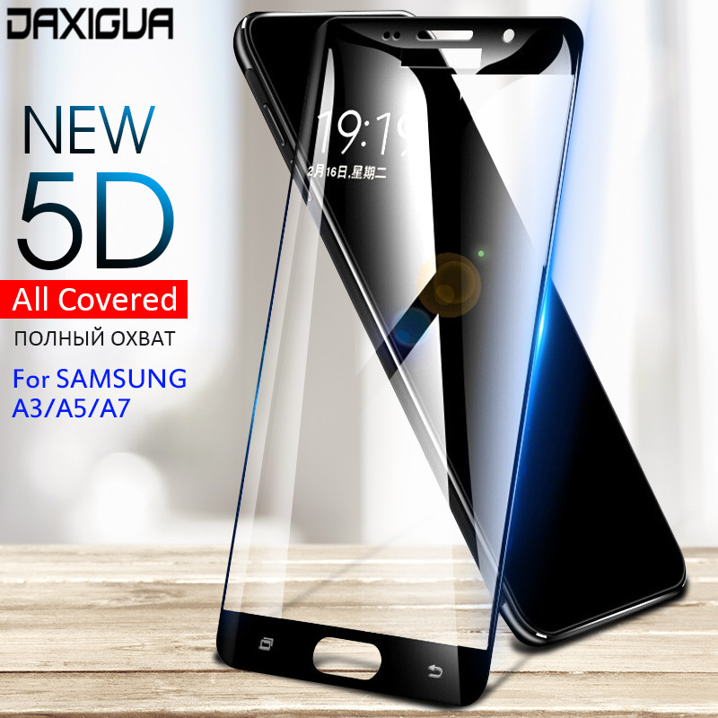 Display screen Protector Glass For Samsung Galaxy A7 A3 A5 2016 2017 2018 Full Protecting Glass For Samsung A8 Plus Tempered Glass Flim
