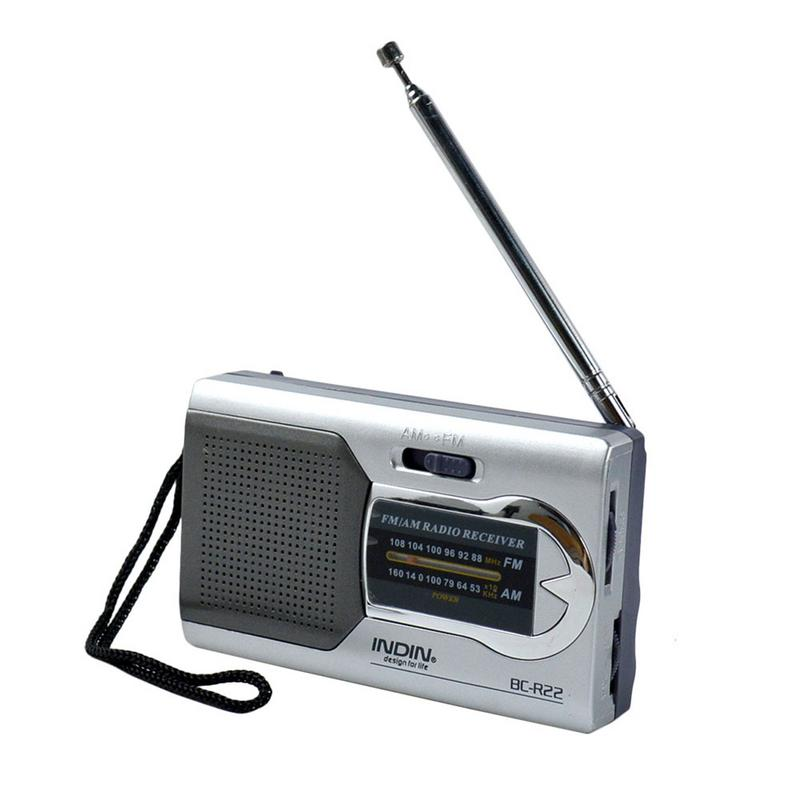 Telescopic-Antenna Stereo Speakers Music-Player Fm Radio Mini Portable 1 for INDIN Dual-Band
