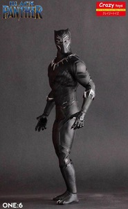 Image 5 - Crazy Speelgoed 1/6 Schaal Marvel Comics Black Panther Figurine Toy Doll Standbeeld