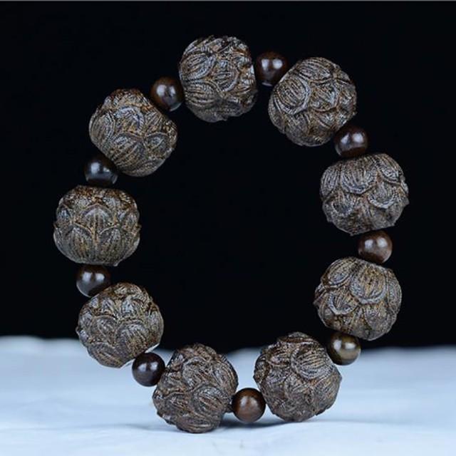 Natural Carving Beads Connotation Bracelet