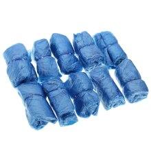 Новинка 100 шт водонепроницаемые одноразовые бахилы синие пластиковые бахилы одноразовые непромокаемые чистящие туфли защитный чехол галоши