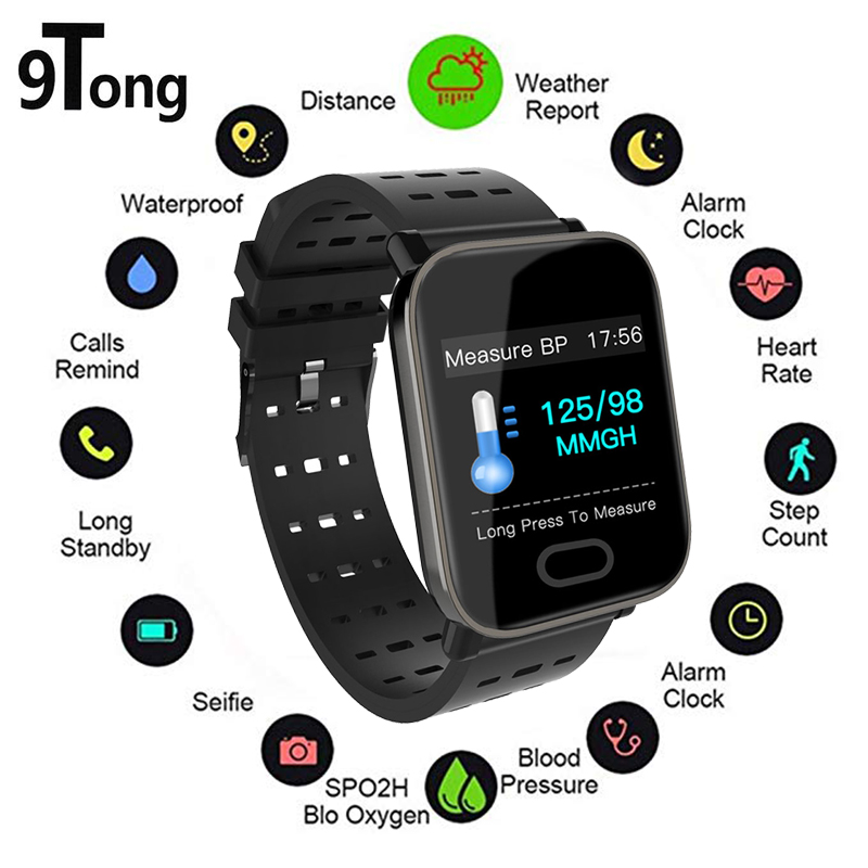 цена на 9Tong Smart Watch Waterproof Sport Smart Wristband Heart Rate Fitness Tracker smartwatch Band Passometer Message Reminder Alarm