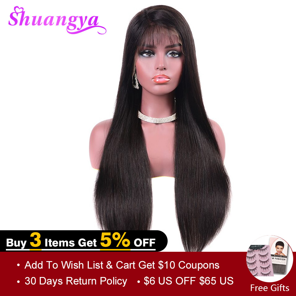 Brazilian Straight Human Hair Wigs 150 Density 13 4 Lace Frontal Wig Pre Plucked Hairline With