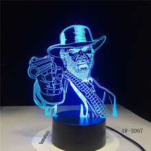 Game Red Dead Redemptionss 2 3D Table Lamp Kids Adult LED Colorful Touch Bedroom Remote Control Night Luminous Toys AW-3097