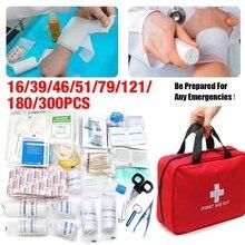 Venda quente 16-300 pçs kit de sobrevivência de emergência mini kit de primeiros socorros da família esporte kit de viagem em casa emergencybag kit de primeiros socorros de carro ao ar livre