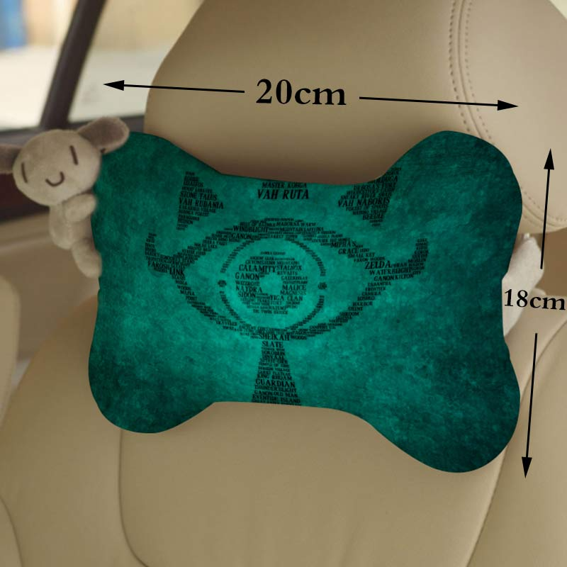 OHCOMICS 1Piece The Legend of Zelda Breath of the Wild Logo CarSeat Headrest Head Neck Pillow Comfortable Soft Neck Rest Support