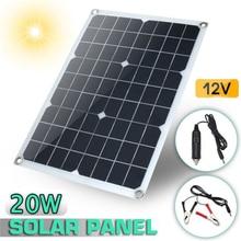 18V Solar Panel 20w Monocrystalline Flexible Silicon Solar Board Power Generater Solar Charger Controller For Battery Car