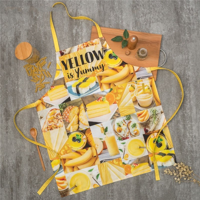 Apron Ethel YELLOW 60х70 cm cm, 100% CHL, twill 190 C/m2 4136522 towel ethel ренесанс type 2 40х73 cm 100% chl twill 190 c m2 4136513