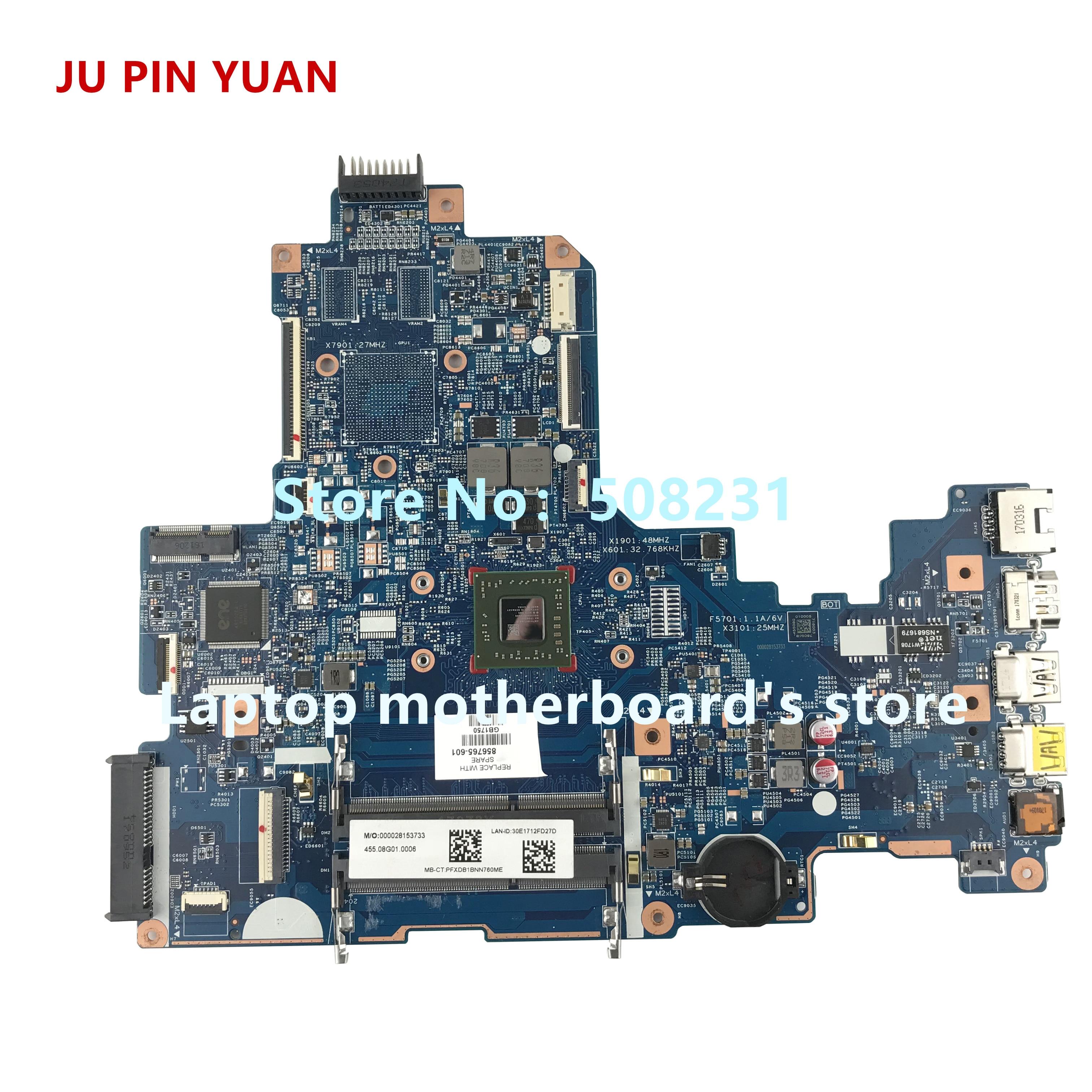 Ju pin yuan 856765 601 856765 001 аккумулятор большой емкости 448.08G03.0011 материнская плата для hp ноутбук 17 Y 17Z Y 17 Y088CL материнская плата портативного компьюте