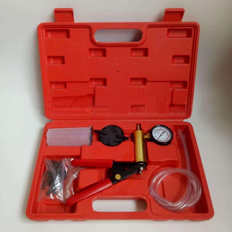 Vacuum Tester Hand Held Vacuum Pump Kit Car Tool Vacuum Testing Tool And Brake Bleeder Car Auto Pressure Tester Set With Box
