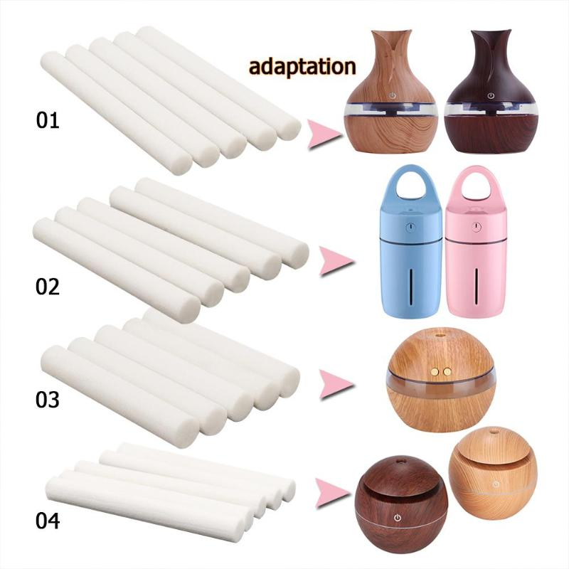 5pcs Humidifiers Filters Cotton Swab For USB Air Ultrasonic Humidifier Aroma Diffuser Replace Parts Can Be Cut 4 Size