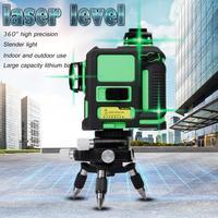 3D 12 линия зеленый лазерный уровень самонивелирующийся 360 горизонтальный и вертикальный крест зеленый лазерный луч Линия Профессиональный