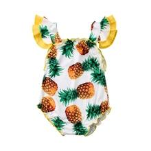 Cute Pineapple Printed Swimwear Toddler Baby Girls Summer One Piece Bikini Swimming Bathing Suits Swimsuit Children's Bikinis цена