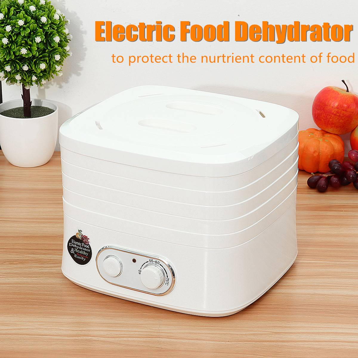 220V 230W 5 trays Electric Food Dehydrators Fruit Vegetable Meat Beef Snack Herb Home Kitchen Appliances Heating Dryer Machine