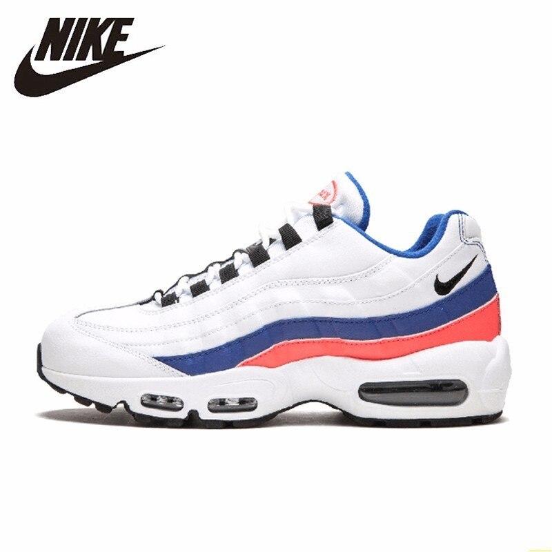 Nike Air Max 95 essentiel blanc bleu nouvelle arrivée chaussures de course loisirs coussin d'air confortable baskets #749766-106
