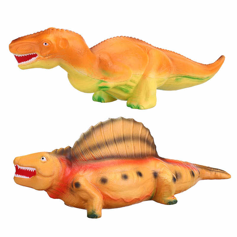 LEORY Tamanho Grande 54 cm SquishiesToys Cura Subindo Pão Perfumado Mochi Rebote Lento do Dinossauro Animal Bebê Boneca Cinta Do Telefone Alívio