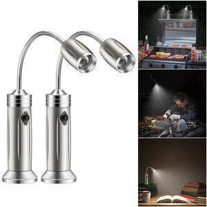 Image 2 - 2 шт. Магнитный BBQ светодиод гриль светильник регулируемый 360 градусов гибкий s образный дизайн настольная лампа для вечерние офисные открытый гриль барбекю