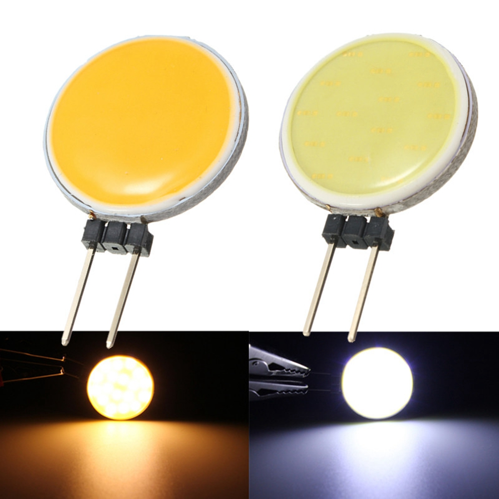 DC12V 4W 5W 7W 12W Pure Warm White LED 15 18 30 63 Chips Replace Halogen Lamp Spot Light Bulb G4 COB