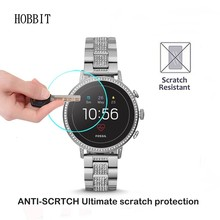 0.3mm 2.5D 9H Clear Tempered Glass Screen Protector For Fossil Q Venture HR Gen 4 Smartwatch Scratch Resistant Screen Guard Film цена и фото