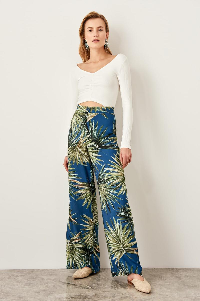Trendyol Multicolour Pattern Pants TWOSS19RM0014