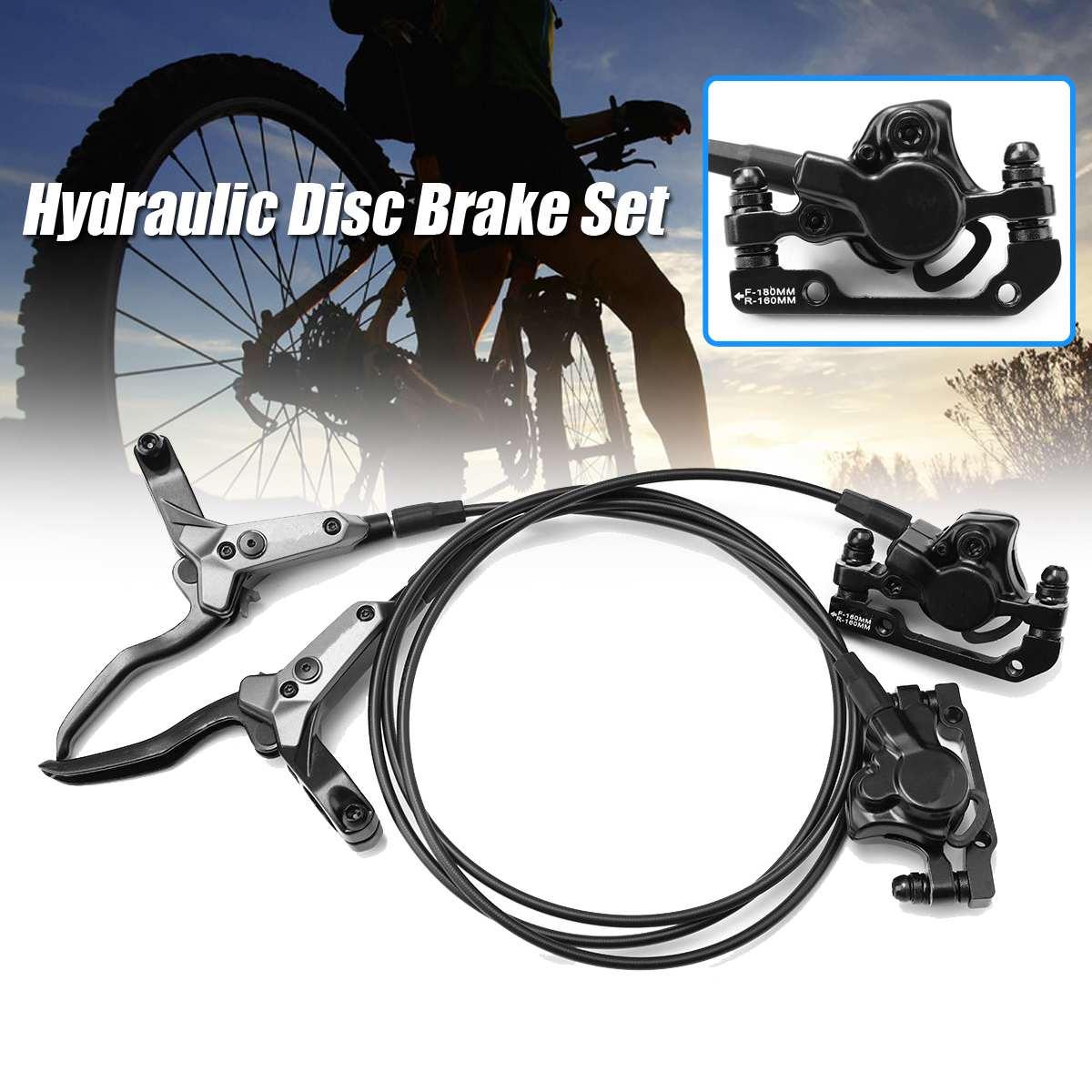 Kit d'adaptateur noir de frein à disque de vélo de montagne hydraulique avant et arrière pour réclamer des accessoires et des pièces de vélo de montagne